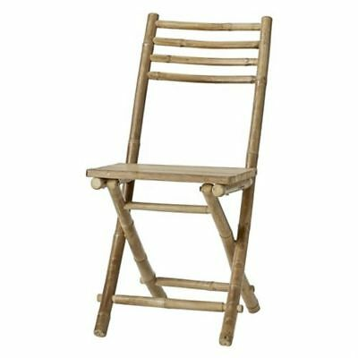 Lene Bjerre Mandisa Natural Stylish Bamboo Folding Chair Home Garden Furniture
