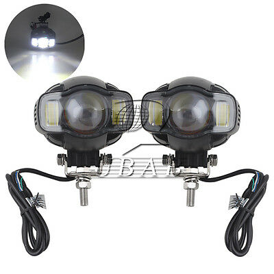 Pair USB Charging Motorcycle LED Headlight Fog Lights Lamp for BMW K1600 R1200GS