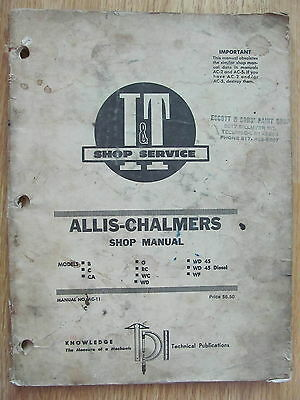 Allis-Chalmers Shop Manual 1960 Tractors No. AC-11 96 pages