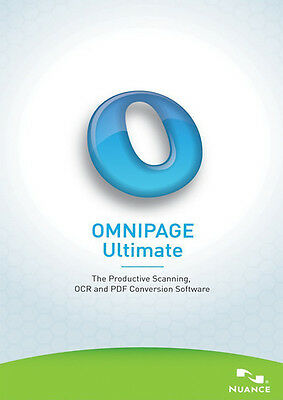 Nuance Omnipage Ultimate: Upgrade from OmniPage17/18 Standard/Pro, for pdf files