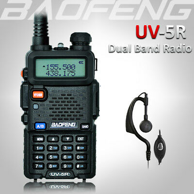 BAOFENG UV-5R UHF/VHF 136-174/400-520Mhz Walkie Talkie Radio Dual Band +Earpiece