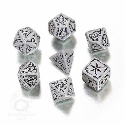STOCK CLEARANCE: Grey & black TRIBAL Dice Set from Q-workshop - SALE !