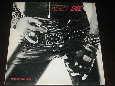 Motley Crue mega rare '81 ORIGINAL USA LP Too Fast For Love on Leathur + insert