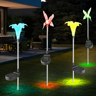 led solar steck leuchte pfau motiv garten deko lampe glas kugel au en strahler eur 21 90. Black Bedroom Furniture Sets. Home Design Ideas