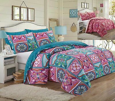 Pieridae Patchwork Mandala Duvet Bedding Cover Set With Pillow Case In All Sizes