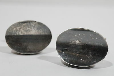 E81 Vintage Sterling Mid Century Mexico Modernist Signed Cufflinks