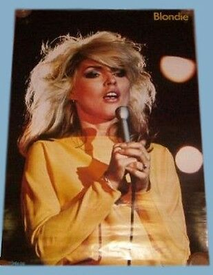 Blondie Deborah Harry Poster Toshiba EMI Chrysalis Japan Rare