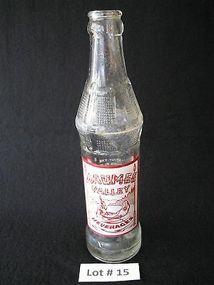 1950'S MAUMEE VALLEY ACL SODA BOTTLE FT WAYNE IN INDIAN CANOE GRAPHICS 8 oz.