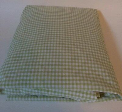 POTTERY BARN KIDS Fitted Crib Sheet Green Gingham Checks Baby PBK