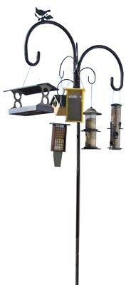 Yellowstone Birdfeeder, Plants and hanging baskets Pole System 6 Hanging Hooks