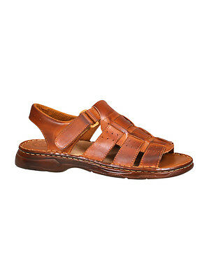 Men Top Shoes Buffalo Natural Leather Orthopedic Strapped Sandals UK Sizes 7-11
