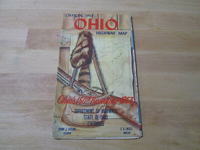 1953 Official Highway Map of Ohio