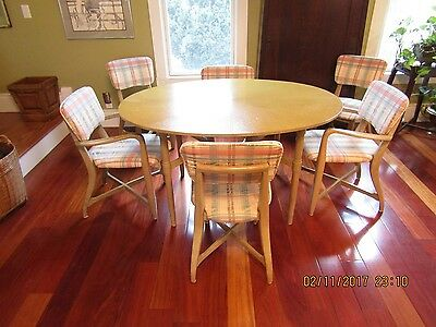 Romweber, Harold Schwartz Dining Table & Chairs Style of GioPonti rare 1953