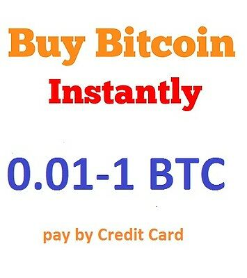 Buy Instant Bitcoin, pay with Credit Card