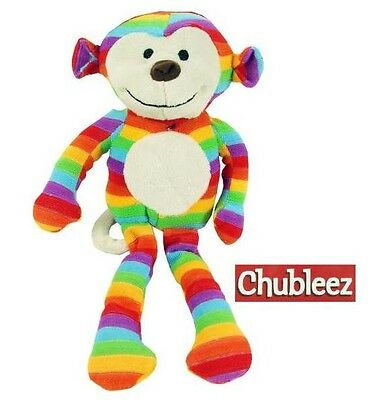 Rosewood Sonny Monkey Dog Toy | Chubleez Comfort Squeaky Plush Cuddly Medium