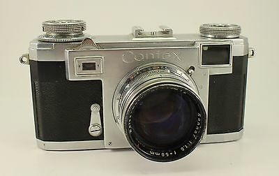 ZEISS Contax Rangefinder Camera 35mm w. Sonnar 50mm Lens 1950s