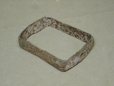 Vintage Hand Forged Blacksmith Made Rectangular Metal Band Maine Barn Find 'T'