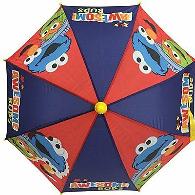 Sesame Street Kids Umbrella Awesome Buds Elmo Oscar Cookie 3D Handle Umbrella