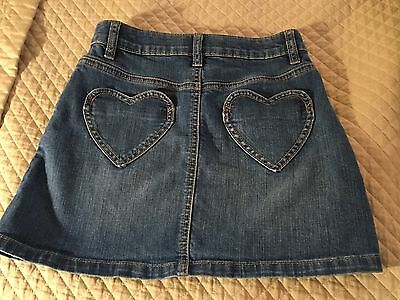 Mini Boden Heart Pocket Denim Skirt, Size 9-10, GUC
