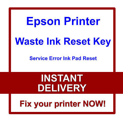EPSON L132 L200 L210 L211 L220 Printer Reset Waste Ink Pads Service Error  Fault