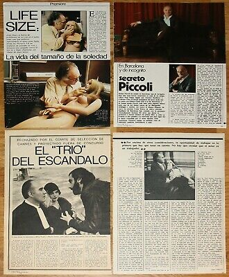 MICHEL PICCOLI 1970s magazine articles french actor photos cinema clippings