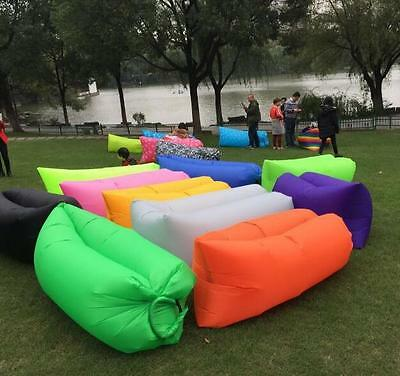 Sofa Bed Lazy Waterproof Lounger Chair Fast Inflatable Camping Air Sleeping Bag*