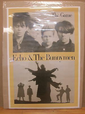 Vintage Echo & the Bunnymen original The Game music artist poster 11266