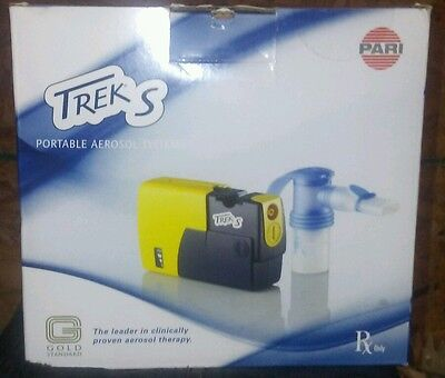Pari Trek S Portable Nebulizer w/ Car Charger 12V DC Adapter + 2 Neb Sets & Tube