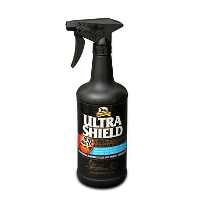 (€ 33,60/l) Absorbine Ultrashield EX Black 946 ml Fliegenspray Stallspray - H&H