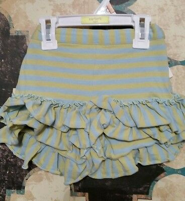 Mustard Pie Euc Ruffle Blue/Green Shorts Size 2t