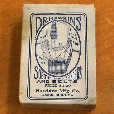 Dr Hawkins Substitute For Suspender & Belts Vintage 1910s Original Box
