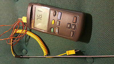 Fluke 51 Ii  Series 2 Digital Thermometer With Thermal Probe