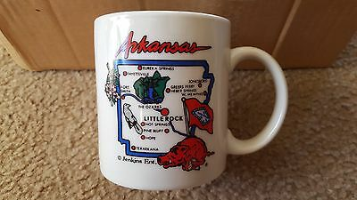 (6 qty) Arkansas Razorbacks Souvenir Ceramic Coffee Mugs Cups - Brand New!