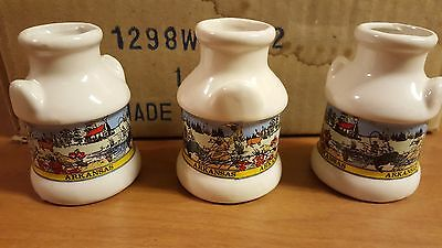 (12 qty) Arkansas Ceramic Toothpick Holders w/ Toothpicks - Brand New - Fast S&H