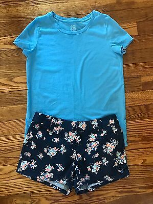 Girl's Old Navy Summer Outfit Shorts And Shirt Size 10/12 EUC