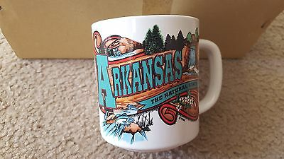 (6 qty) Arkansas Souvenir Ceramic Coffee Mugs Cups Natural State - Brand New!