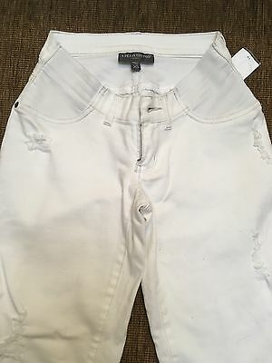New A Pea In The Pod White Maternity Jeans XS X Small