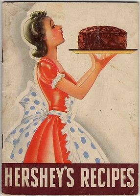Hershey's Recipes 1940 booklet Hershey Chocolate ~ VINTAGE