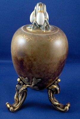Superb 19thC KPM Berlin Seger Glaze Porcelain Tea Caddy Jar Porzellan Teedose