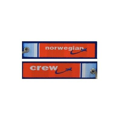 Single Keyholder With Norwegian On One Side And Norwegian Crew On Other Side JPK