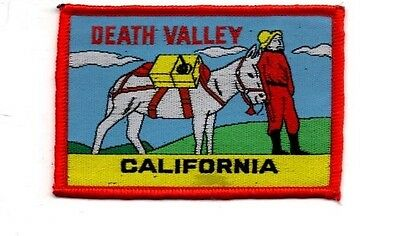 "Death Valley California Mule Patch - 2 1/2"" x 3 1/4"" Free Shipping!"