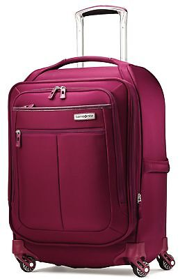 """Samsonite Luggage Mightlight Softcase Spinner 19"""" Carry On Boarding Bag (Berry)"""