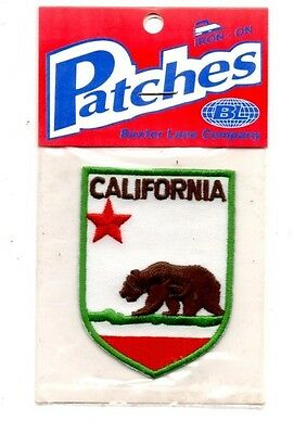 California Grizzly Bear Travel Souvenir Patch - Brand New - Free Shipping!
