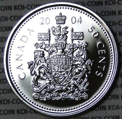 PL BU UNC Canada 2004 50 cent 50c half dollar coin from mint set proof-like