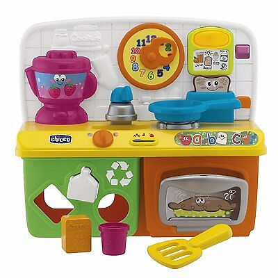 CHICCO Talking Kitchen Lights and Sounds Toy English And French Bilingual - New