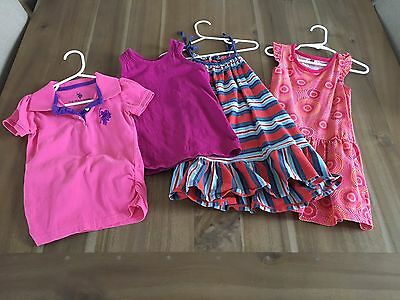 Lot of 4 summer items for Girls size 3, Tea Collection & US Polo Assn
