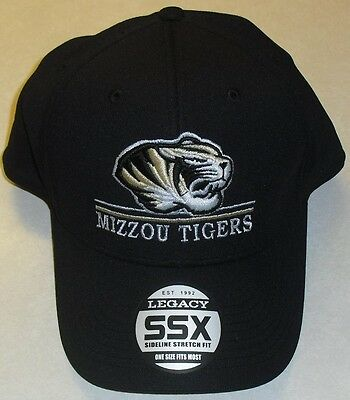 premium selection bbd11 a9218 Missouri Tigers MIZZOU University One Fit Stretch Fit Hat NCAA Brand New!