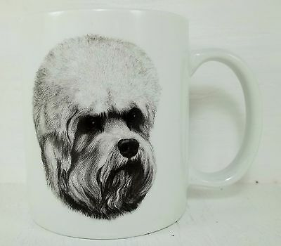 Porcelain Hand Decorated Dandi Dinmont Dog Mug Coffee Cup - Rosalinde