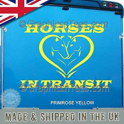 Horse Box Stickers Horses In Transit Trailer Vinyl Graphic Decals - 16 Colours