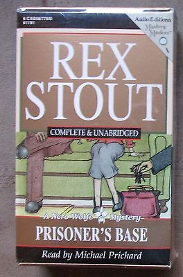 Rex Stout PRISONER'S BASE 6 cassettes NEW unabridged